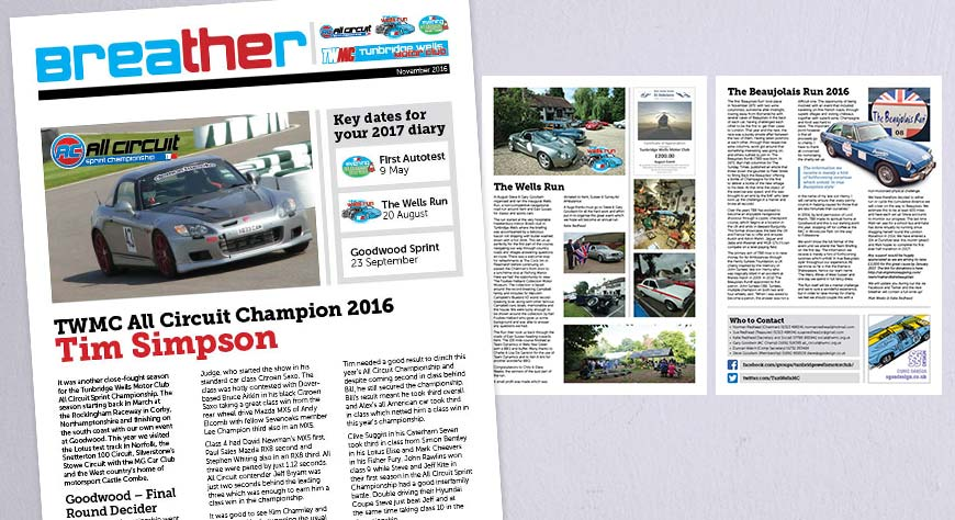 Tunbridge Wells Motor Club Newsletter