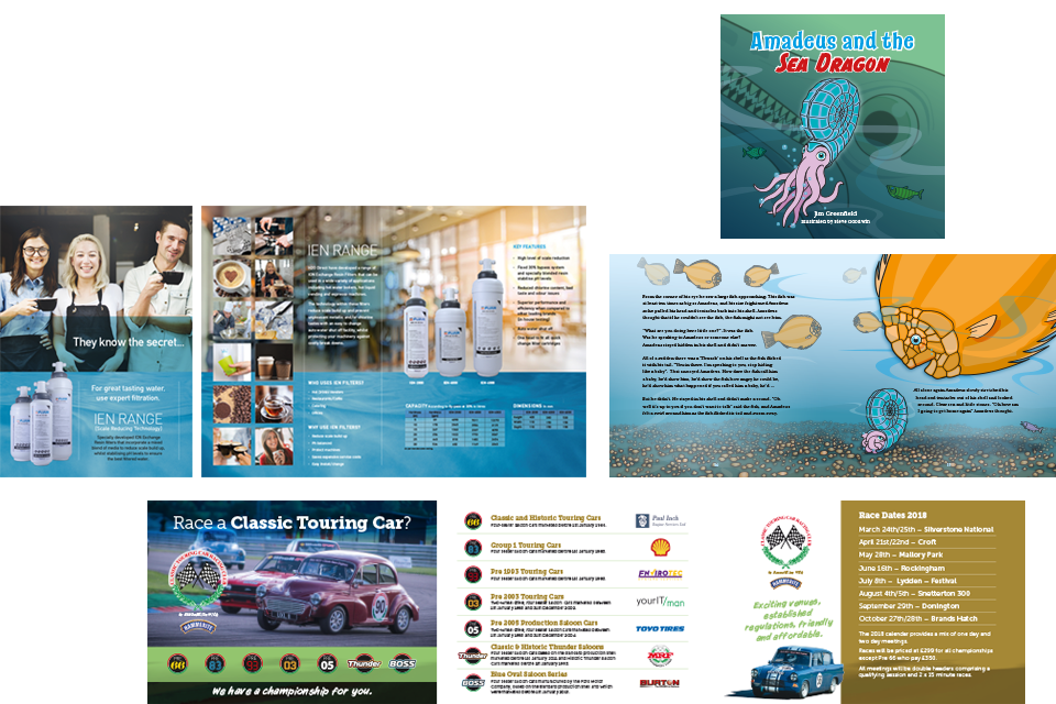 Leaflet, brochure and book design, Crowborough