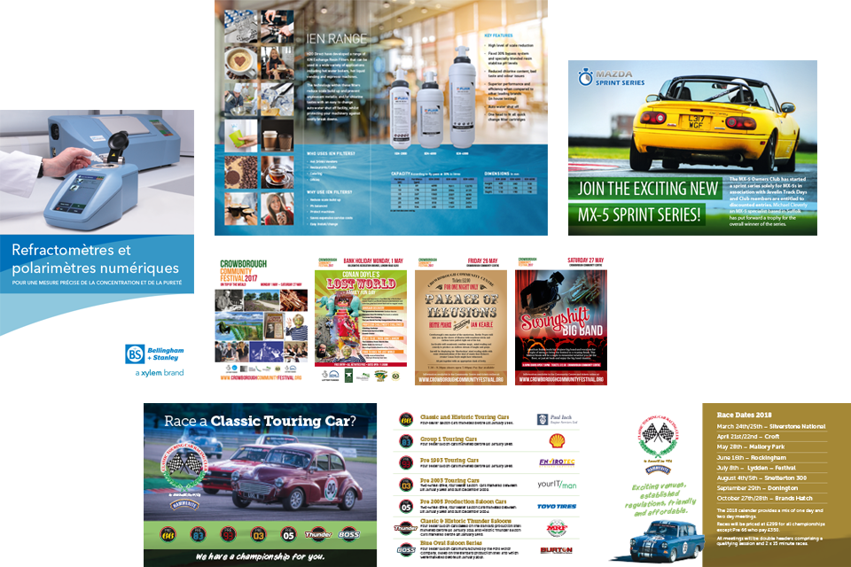 Leaflet and brochure design in Crowborough