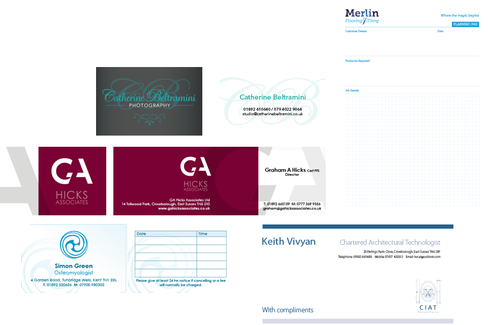 Stationery design and print in Crowborough, East Sussex