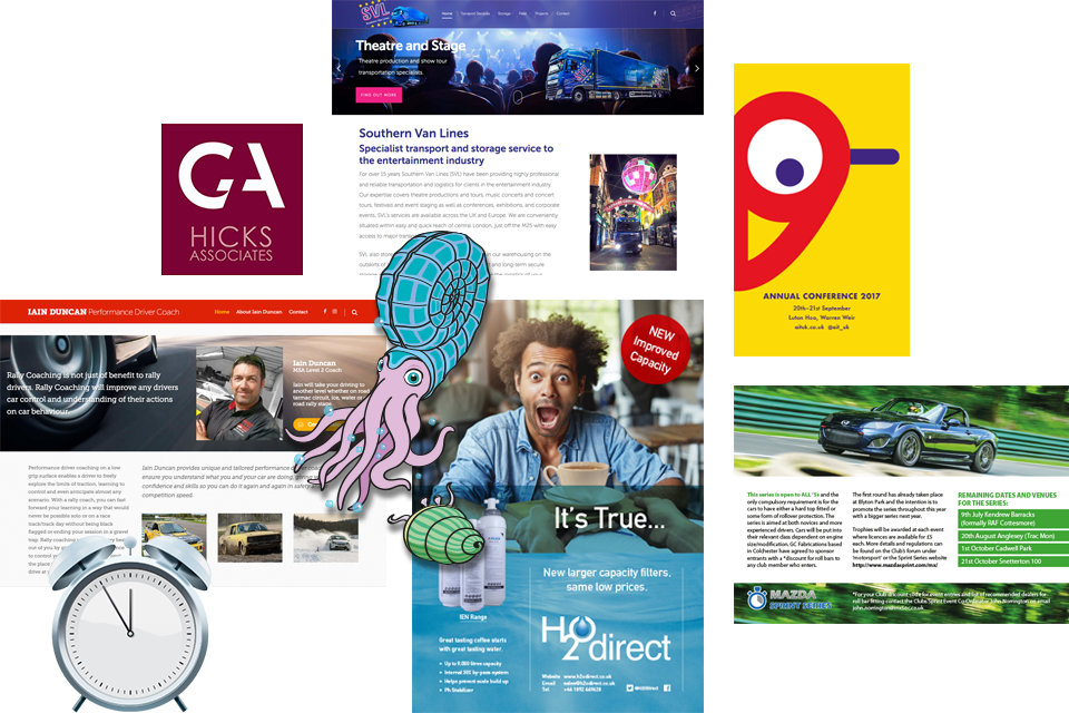 Graphic Design Services Examples from SGSS Design Crowborough East Sussex