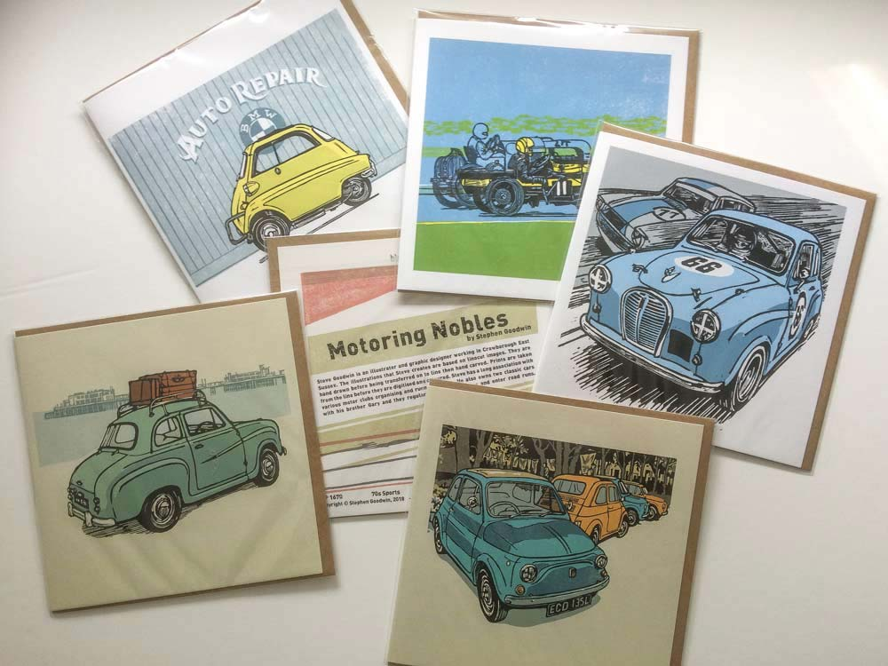 Blue Island Press published illustrations for greetings cards
