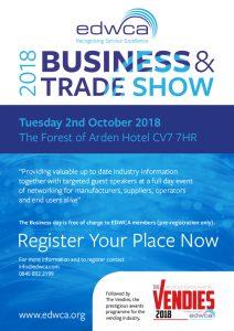 EDWCA trade show leaflet