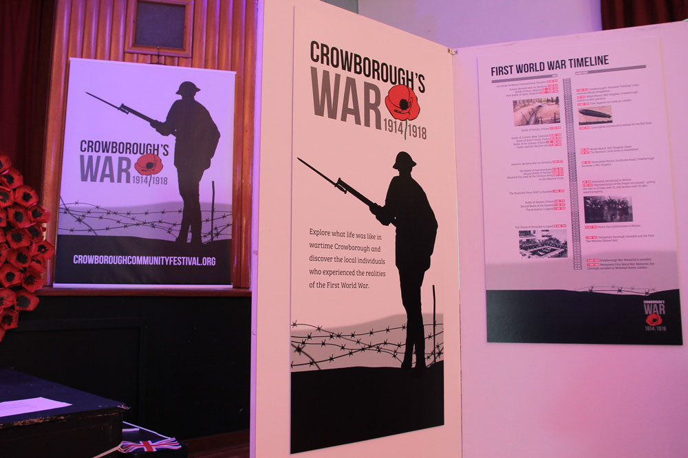 Crowborough's War Exhibition panels