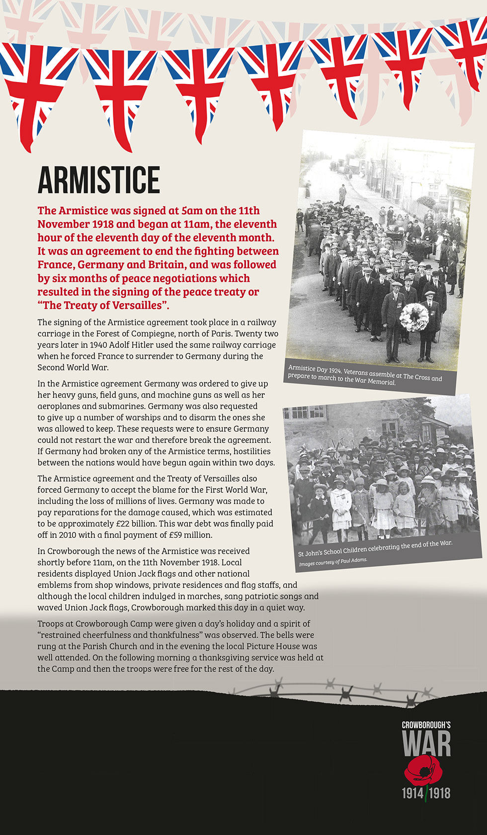 Crowborough's War Exhibition Armistice