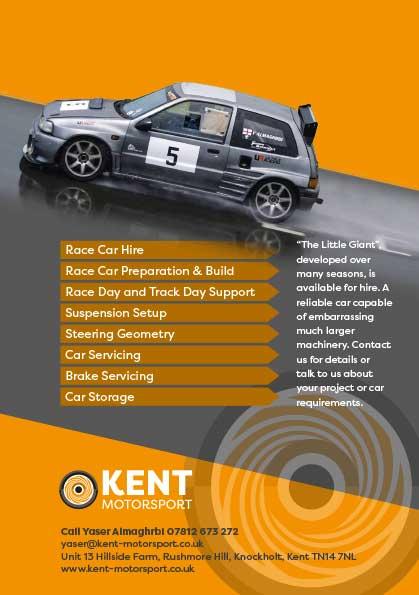 Kent Motorsport leaflet