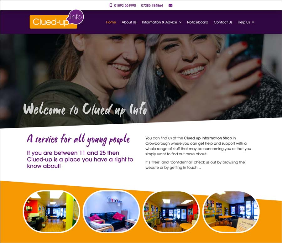 Crowborough Clued Up Information Shop website home page