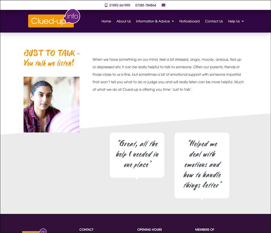 Crowborough Clued Up Information Shop website information page
