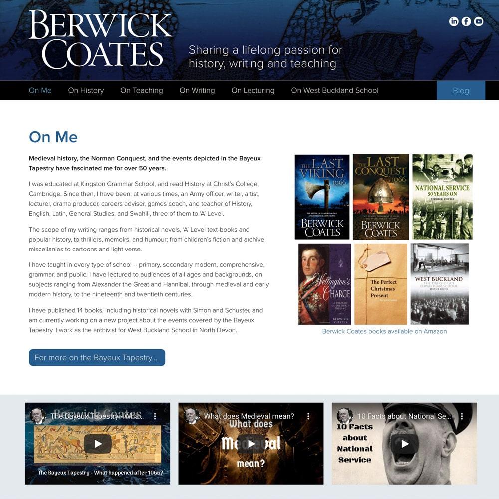 Berwick Coates website home page
