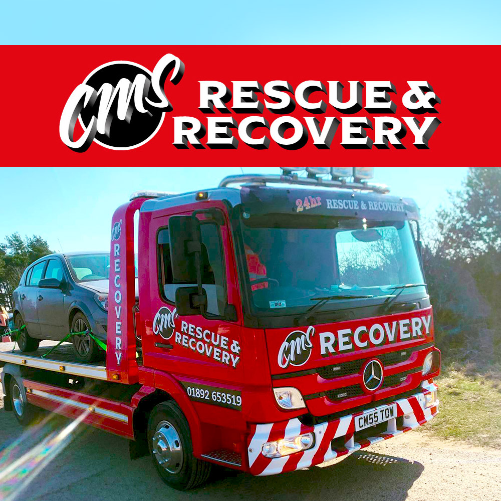 CMS Rescue & Recovery logo and truck livery