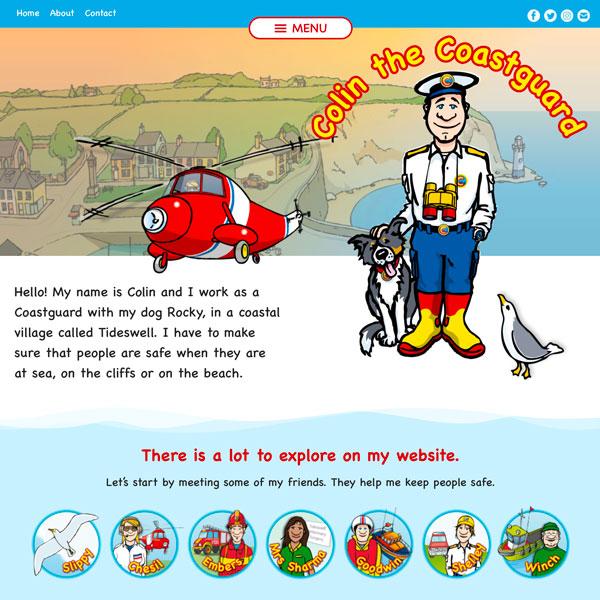 Colin the Coastguard website home page