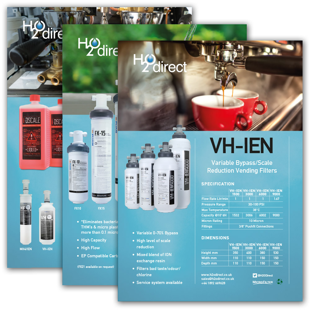 H2O Direct product specification sheets
